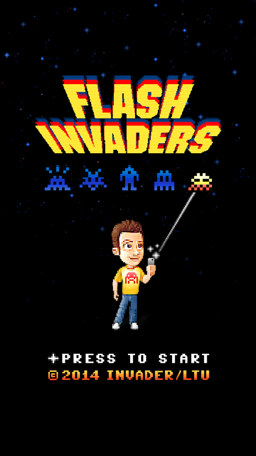FlashInvaders- screenshot