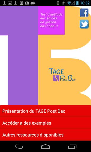 TAGE Post Bac