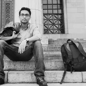 Self Posture by Sandip Roy - People Portraits of Men ( selfie, self shot, confident, self portrait, portrait, being myself )