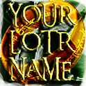 YOUR LOTR NAME icon