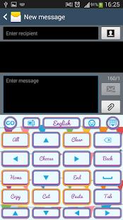 design klávesnice - náhled