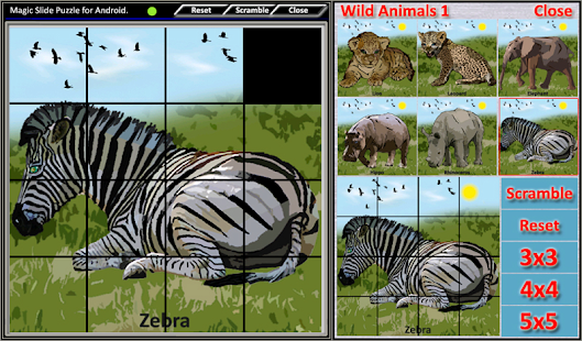 Magic Slide Puzzle W.Animals 1 Screenshot 21