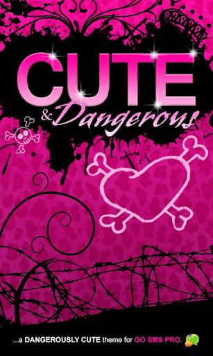 Cute Pink Cheetah Theme Go SMS