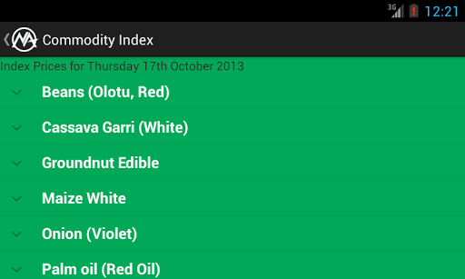 Nigerian Commodities Index