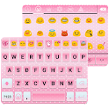 Pink Emoji Keyboard -Emoticons icon