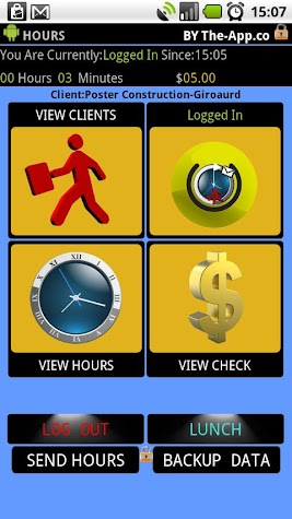 .Hours - Time Clock/Card Pro Screenshot