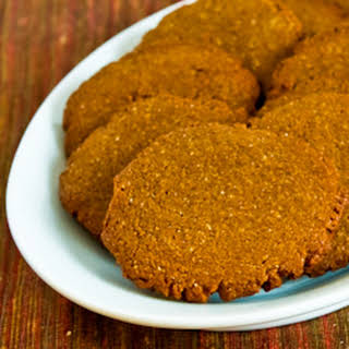 Low-Sugar and Whole Wheat Molasses-Almond Cookies.