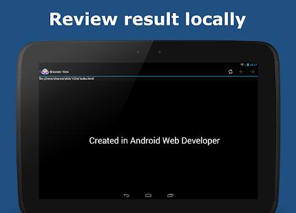 AWD - PHP/HTML/CSS/JS IDE Capture d'écran