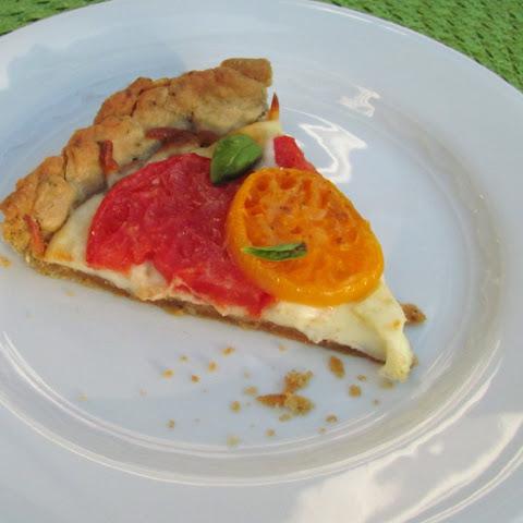 Mozzarella, Tomato, and Basil Quesadillas With Parmesan Crust Rezept ...