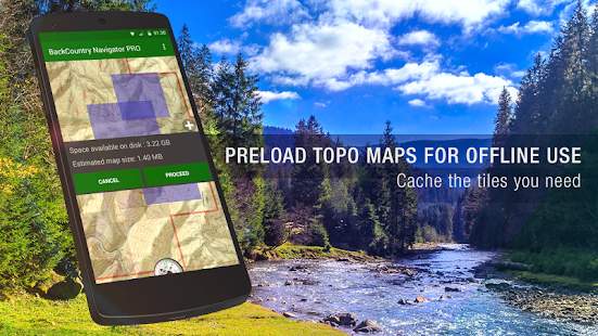 BackCountry Navigator TOPO GPS PRO Screenshot