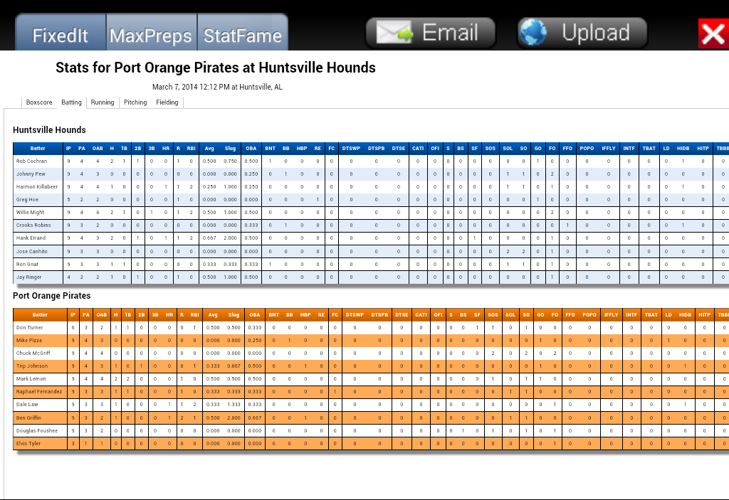 Baseball ScoreBook- screenshot