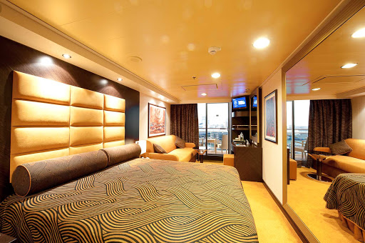 MSC-Splendida-Outside-Cabin-with-Balcony - You'll feel like you are staying in a boutique hotel when settling into a suite aboard MSC Splendida.