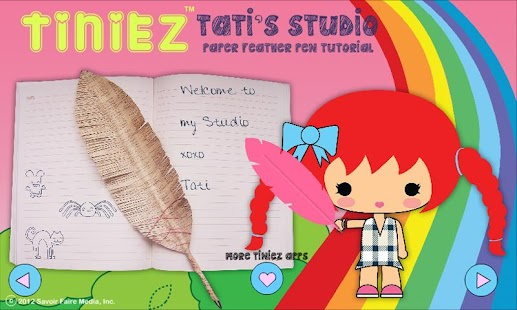 Tiniez DIY Feather Pen Video - screenshot thumbnail