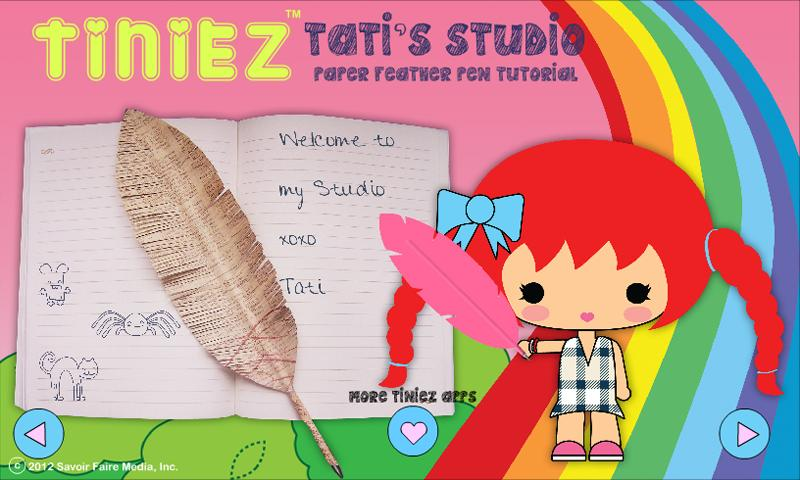 Tiniez DIY Feather Pen Video - screenshot