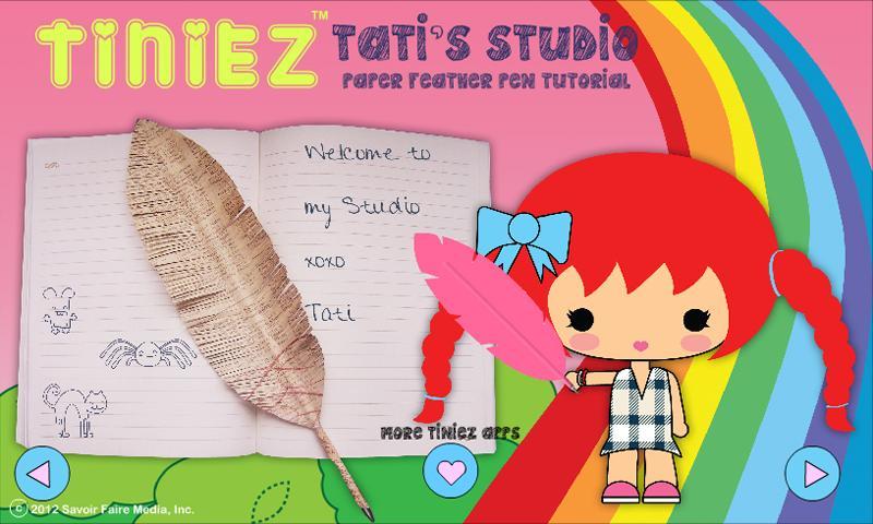 Tiniez DIY Feather Pen Video - screenshot