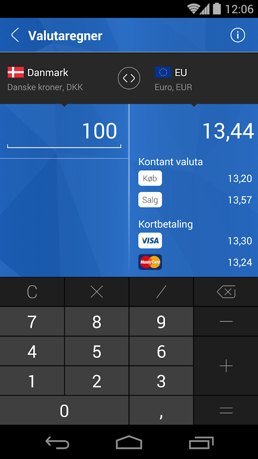Nordfyns Banks Mobilbank- screenshot