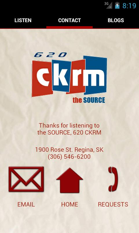 620 CKRM - screenshot