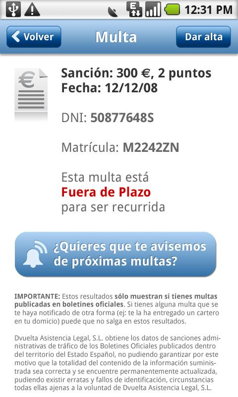Buscamultas - screenshot