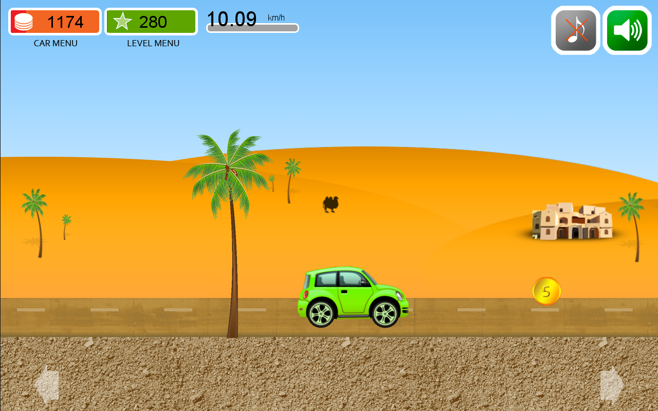 Car's travel 2 games for baby - screenshot