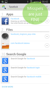 Andro Search (Files Contacts) Screenshot