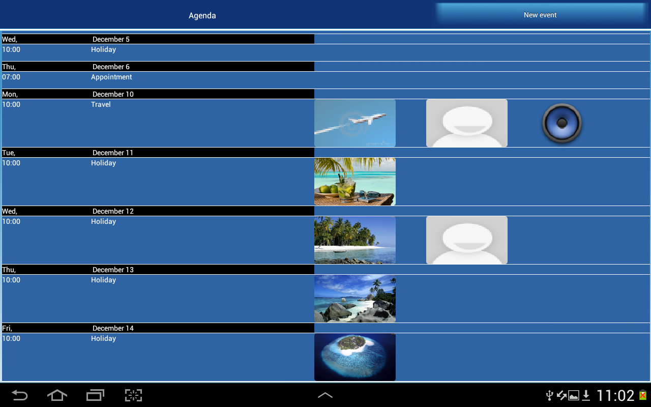 ClickCal Calendar- screenshot