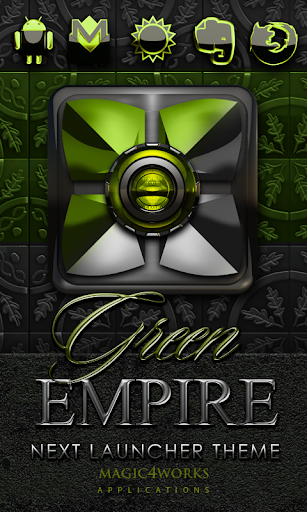 Next Launcher Theme Green Emp