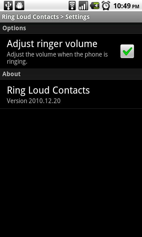 Ring Loud Contacts - screenshot
