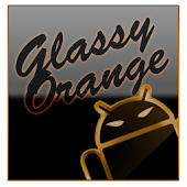 GOKeyboard Theme Glassy Orange
