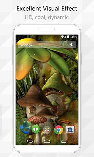 Mushroom City Live Wallpaper