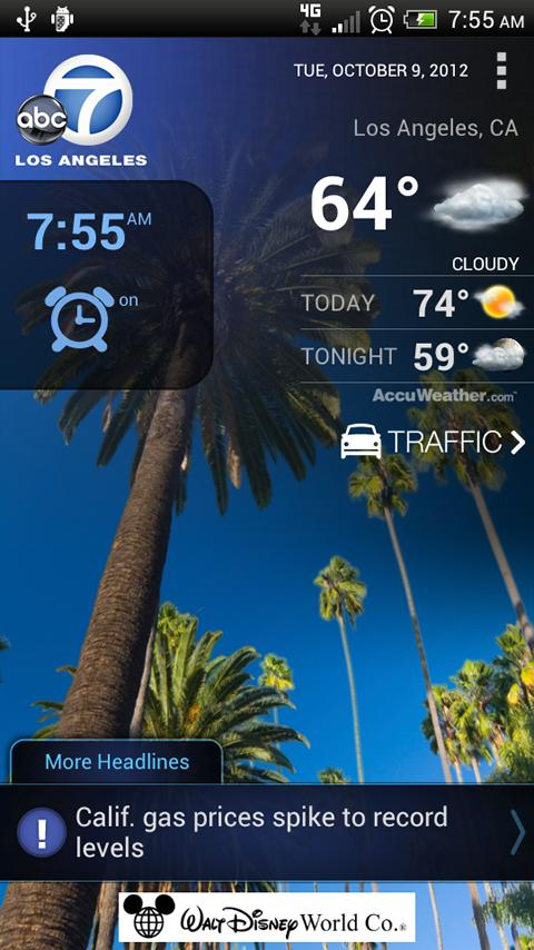ABC7 Los Angeles Alarm Clock - screenshot
