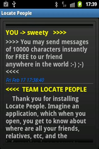 Locate Friends- screenshot