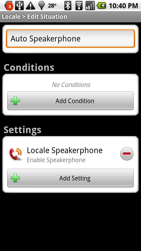 Locale Speakerphone Plug-in - screenshot