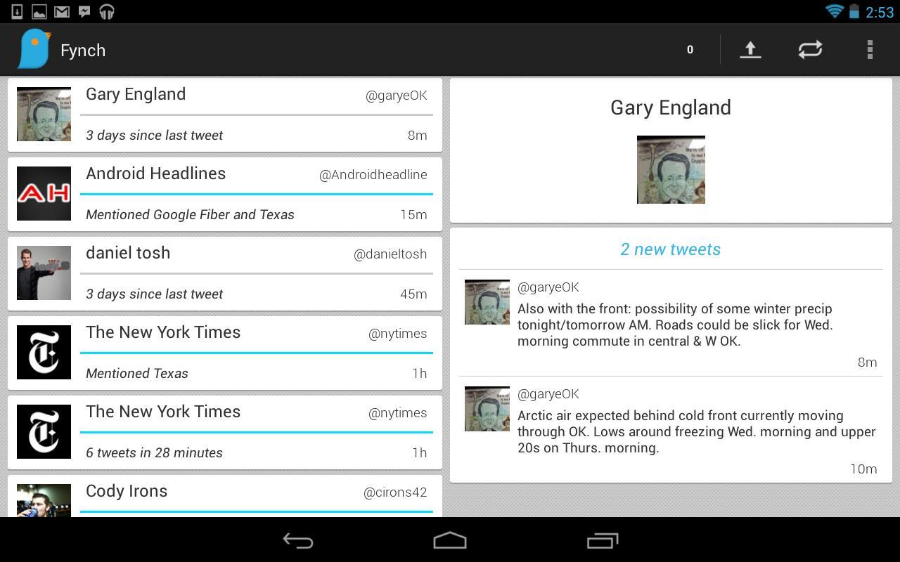 Fynch - A Twitter Extension - screenshot