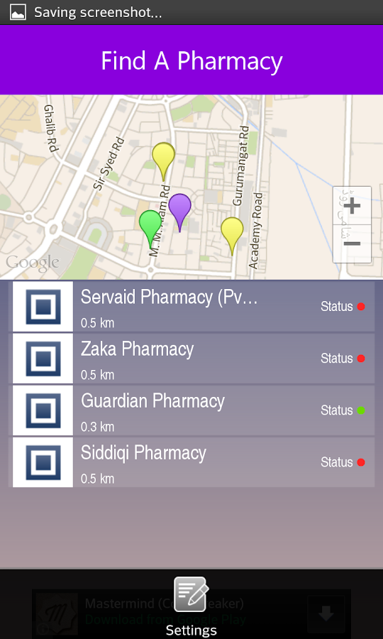 Find A Pharmacy- screenshot
