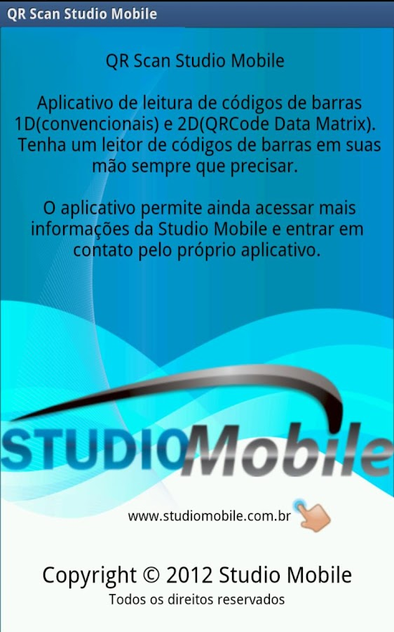 QR Scan Studio Mobile: captura de tela