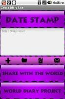 Screenshot of Purple Zebra Secret Diary WDP