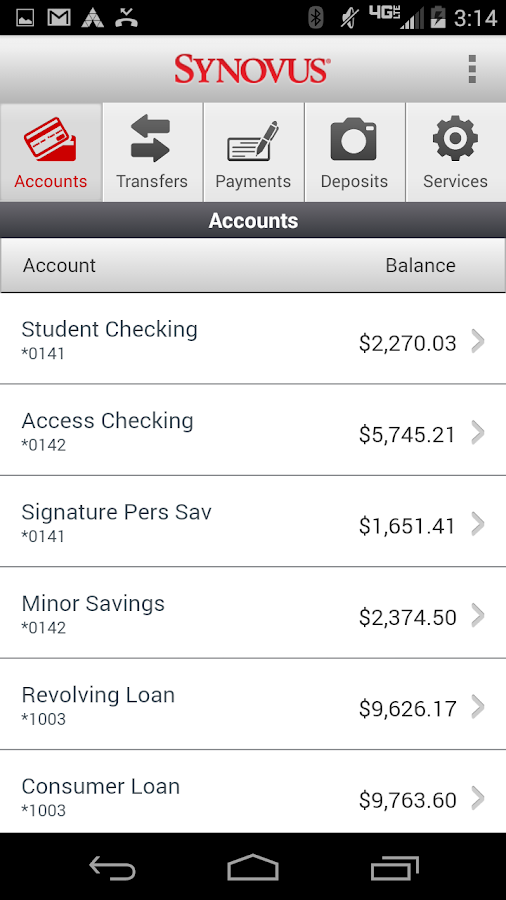 Synovus Mobile Banking 2.0.0- screenshot