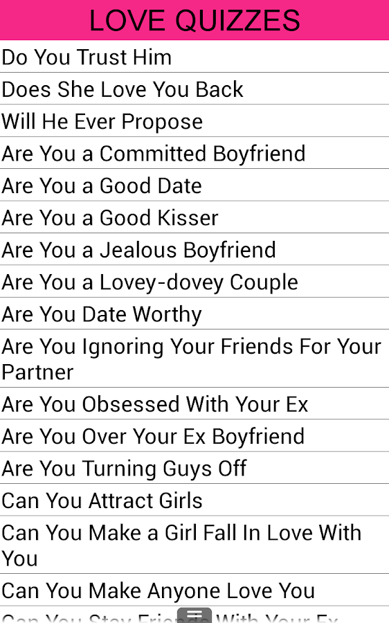 how to know if you love him quiz