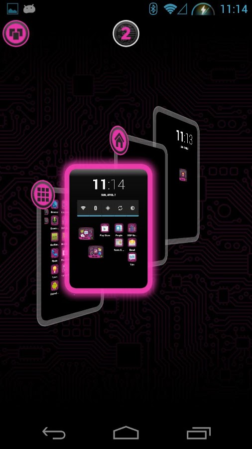 PCB Pink HD TSF Shell Theme - screenshot