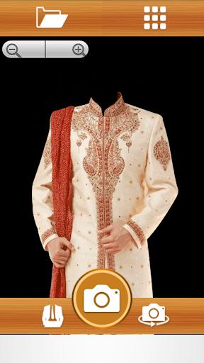 Man Sherwani Suit photo maker