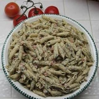 Creamy Penne Pasta.