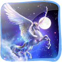 Flying Pegasus in 3D logo