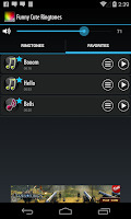Screenshot of Funny and Cute Ringtones