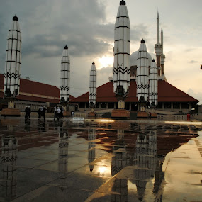 menjelang Maghrib by Christian Nugroho - Buildings & Architecture Places of Worship