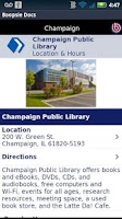 Screenshot of Champaign Public Library