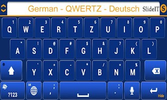Screenshot of SlideIT German QWERTZ Pack