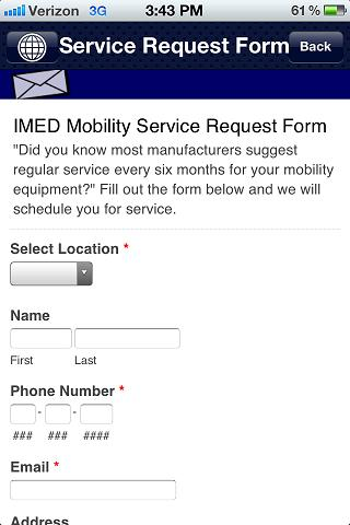 IMED Mobility- screenshot