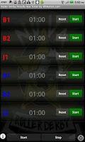 Screenshot of Roller Derby Penalty Timer