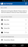 Screenshot of Kingston Waste