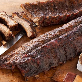 Coffee-Rubbed Ribs with Coffee Barbecue Sauce.